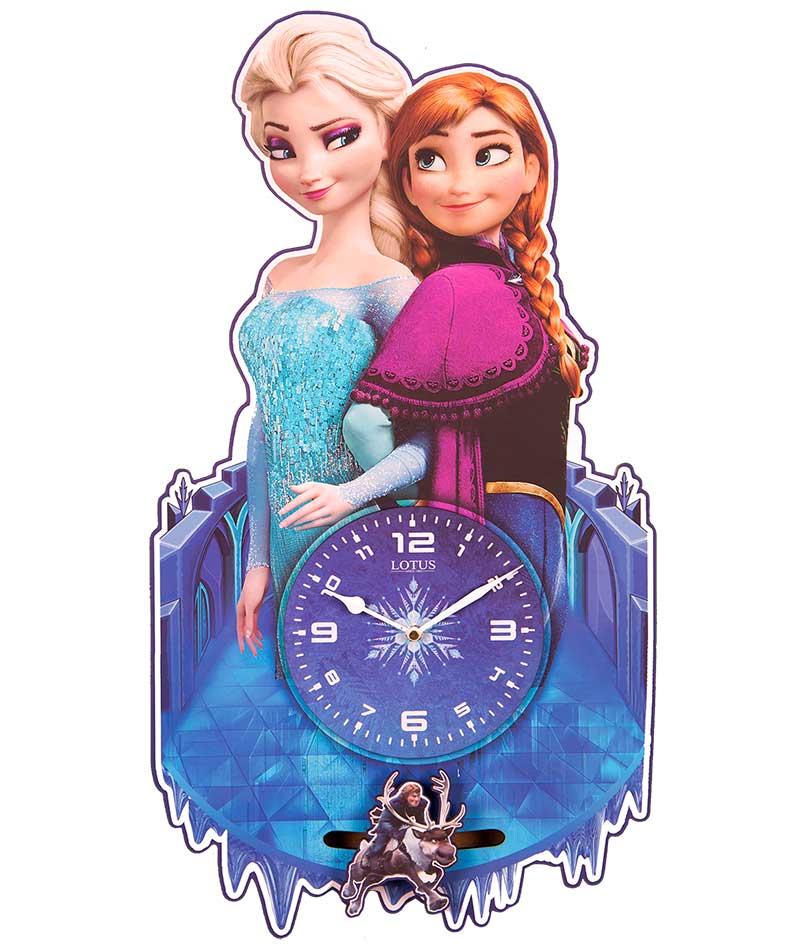 ساعت دیواری چوبی اتاق کودک لوتوس مدل Frozen