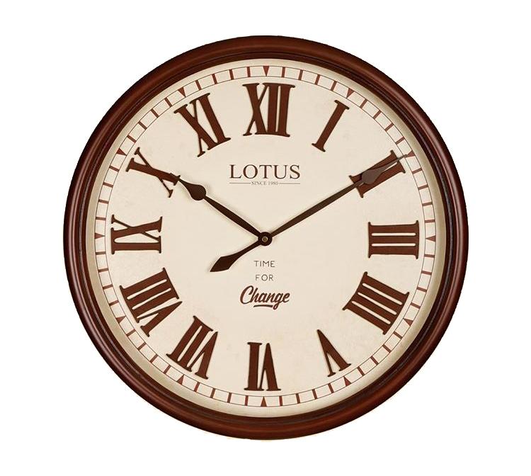 ساعت دیواری چوبی لوتوس مدل Browndell W-255