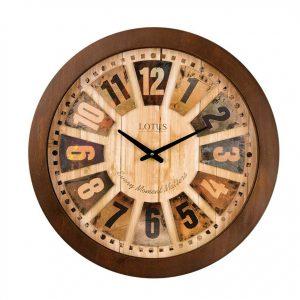 ساعت دیواری چوبی لوتوس مدل JAMESTOWN-9818