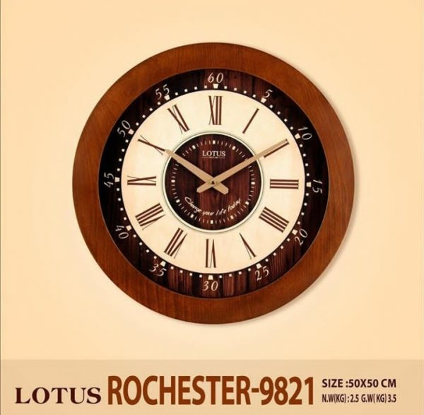 ساعت دیواری چوبی لوتوس مدل ROCHESTER-9821