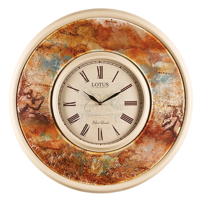 ساعت دیواری دو فریم لوتوس مدل MARSEILLE-FR-664