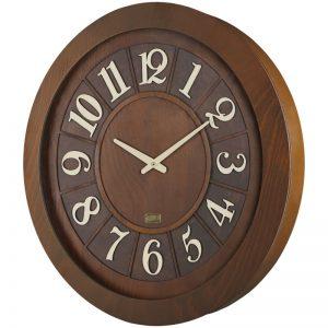 ساعت دیواری چوبی لوتوس مدل RYE W-9832