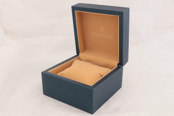 جعبه ساعت مچی چوبی و چرم با مارک رومانسون