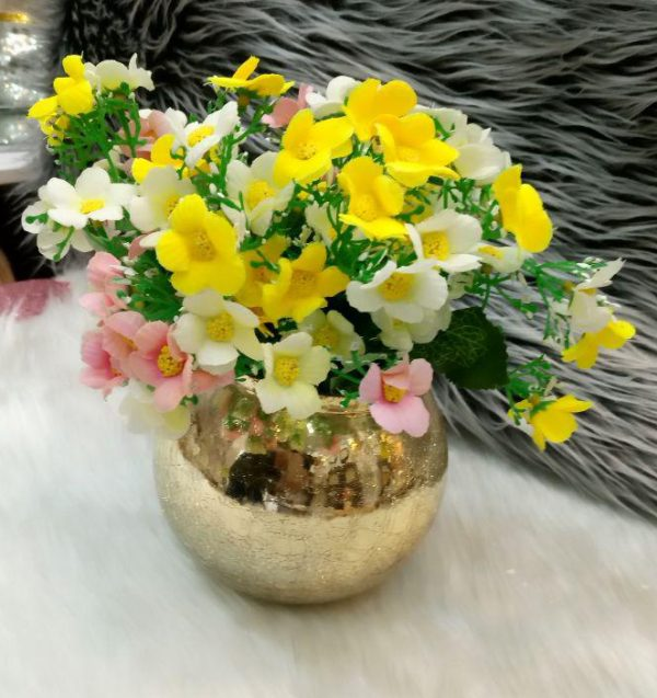 گلدان شیشه ای مدل توپی