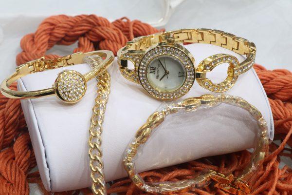 ست ساعت مچی و دستبند زنانه کلوین تایم مدل 28053